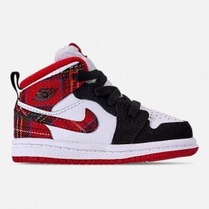 Kids Toddler Air Jordan 1 Mid Retro Basketball Shoes