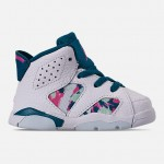 Girls Toddler Air Jordan Retro 6 Basketball Shoes