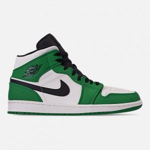 Mens Air Jordan Retro 1 Mid Premium Basketball Shoes