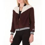 Womens Nike Sportswear Sherpa Wolf Bomber Jacket