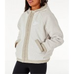 Womens Nike Sportswear Reversible Sherpa Full-Zip Jacket