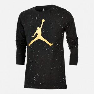Boys Jordan Speckle Long Sleeve T-Shirt