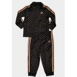 Girls Infant adidas Polka Dot Tricot Track Jacket and Jogger Pants Set
