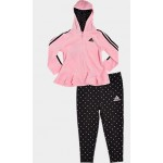 Girls Infant adidas Velour Full-Zip Hoodie and Leggings Set