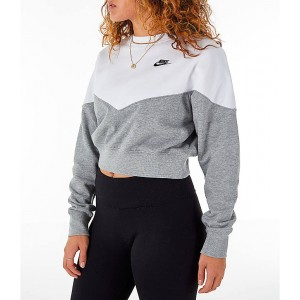 Womens Nike Sportswear Heritage Crop Crew Sweatshirt