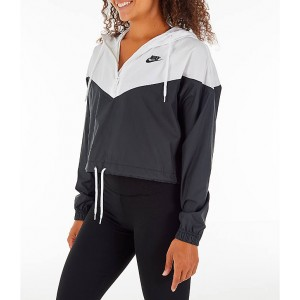 Womens Nike Sportswear Heritage Crop Windrunner Jacket
