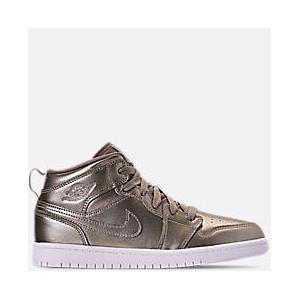 Girls Little Kids Air Jordan 1 Mid SE Casual Shoes
