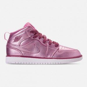 Girls Little Kids Air Jordan 1 Mid SE Casual Shoes