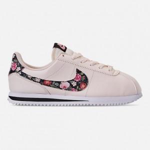 Girls Big Kids Nike Cortez Basic Leather Casual Shoes