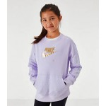 Girls Nike Air Quilted Crewneck Sweatshirt