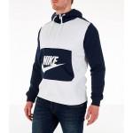 Mens Nike Sportswear Hybrid Half-Zip Hoodie