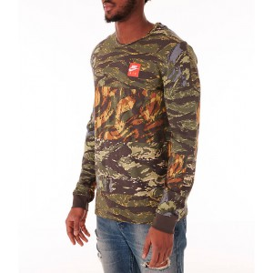 Mens Nike Sportswear Tiger Allover Print Long Sleeve T-Shirt