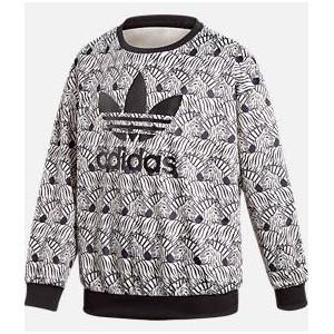 Girls adidas Zebra Crewneck Sweatshirt