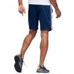Mens adidas 4KRFT 9-inch Sport Heather 3-Stripes Training Shorts