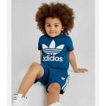 Toddler and Little Kids adidas Originals Trefoil T-Shirt and Shorts Set