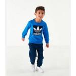 Boys Infant and Toddler adidas Originals Trefoil Crewneck Sweatshirt and Jogger Pants Set
