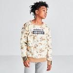 Boys adidas Originals R.Y.V. Camouflage Crewneck Sweatshirt