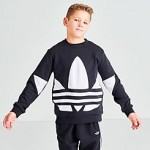 Boys adidas Originals Big Trefoil Crewneck Sweatshirt