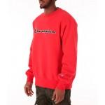 Mens Champion Reverse Weave Script Logo Crewneck Sweatshirt