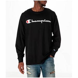 Mens Champion Classic Graphic Long-Sleeve T-Shirt