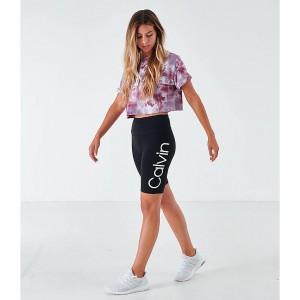 Womens Calvin Klein Logo Bike Shorts