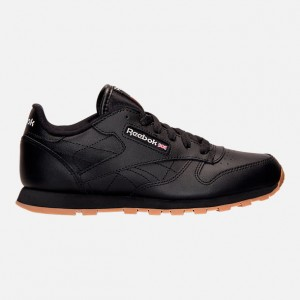Big Kids Reebok Classic Leather Gum Casual Shoes