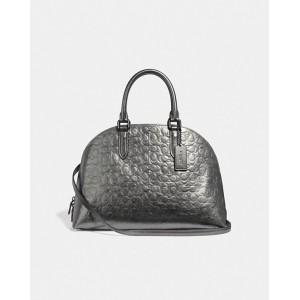 quinn satchel in signature leather