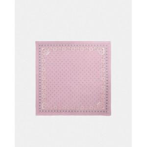 bandana print silk square scarf