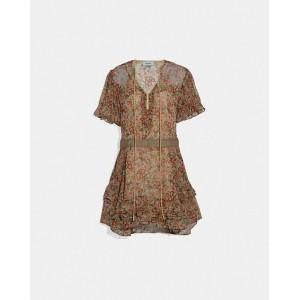 retro floral print dress
