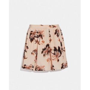 palm tree print mini skirt