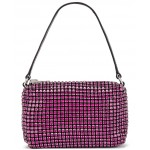 Medium Pouch Rhinestone Mesh Bag