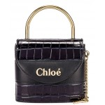 Small Abylock Embossed Croc Padlock Bag