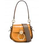 Small Tess Embossed Croco Shoulder Bag