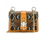 Mini Aby Chain Embossed Python Shoulder Bag