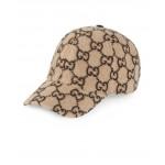 GG Wool Baseball Hat In Beige & Black