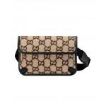 GG Wool Belt Bag In Beige Ebony & Black