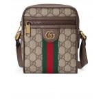 GG Shoulder Bag In Beige Ebony & Green & Red