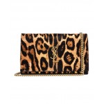 Leopard Monogramme Chain Wallet Crossbody Bag