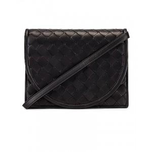 Woven Flap Leather Crossbody Bag