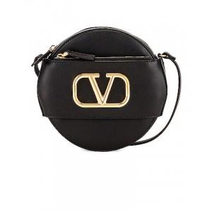 V Logo Circle Crossbody Bag