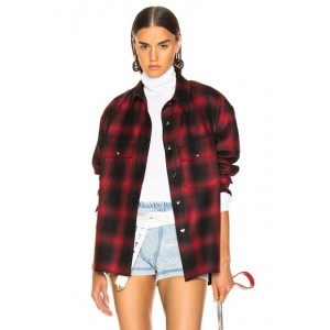 Wool Button Off Flannel