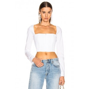 Straight Neck Long Sleeve Top