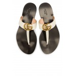 Double G Leather Thong Sandals