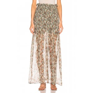 Meadow Floral Silk Skirt