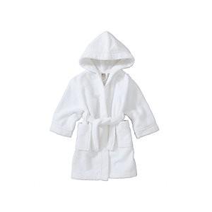 John Lewis & Partners Baby Towelling Robe, White