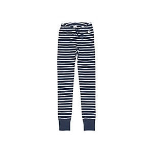 Polarn O. Pyret Childrens Stripe Leggings, Navy