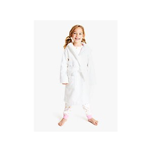 John Lewis & Partners Childrens Toweling Robe, White
