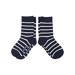 Polarn O. Pyret Childrens Striped Socks, Pack of 2, Blue
