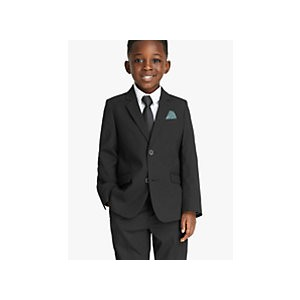 John Lewis & Partners Heirloom Collection Boys Black Suit Jacket, Black