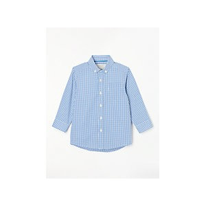 John Lewis & Partners Heirloom Collection Boys Gingham Shirt, Blue
